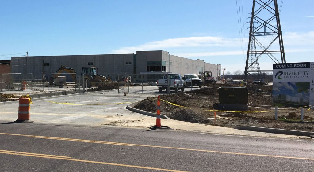 building under construction at River City Business Park.